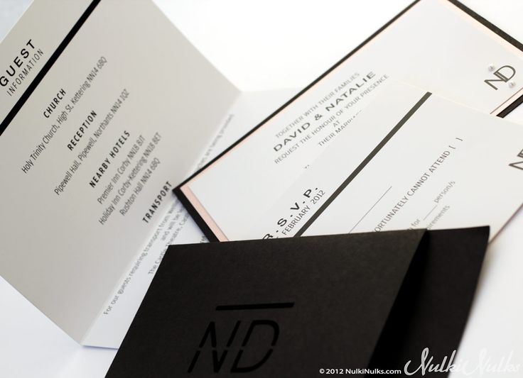 Modern and Elegant Wedding Invitations and Stationery Suite | Real Weddings Stationery by Nulki Nulks