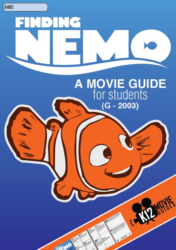 This Finding Nemo movie guide is a great way to turn a fantastic classic into a learning experiences about overcoming obstacles and never giving up.