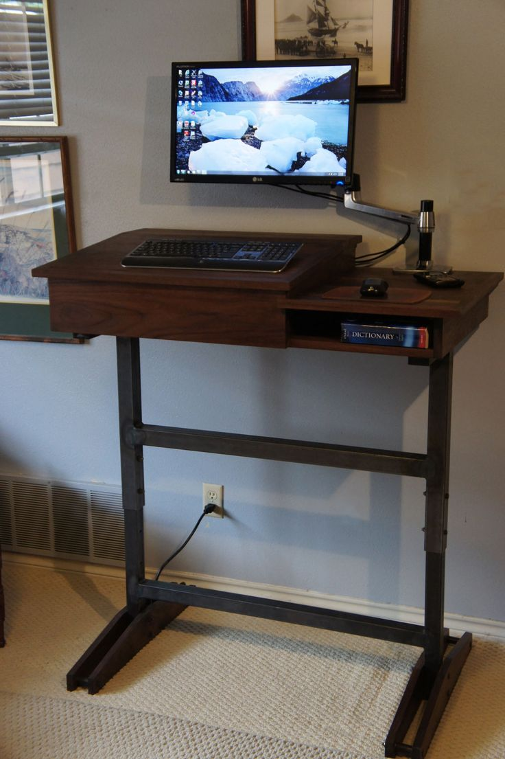 Desk kickstand furniture -  The Height Is Adjustable In One Inch Increments From 36 To 48