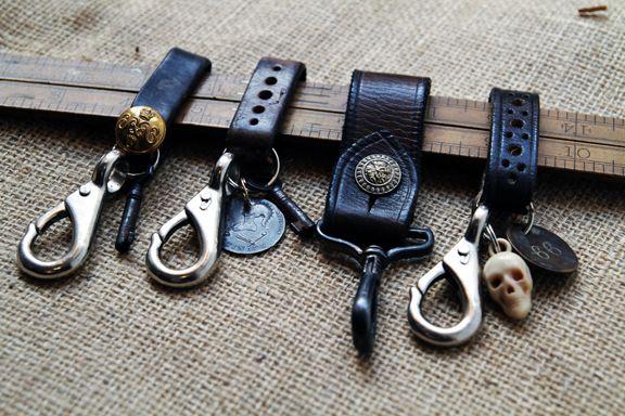 Vintage belts into key clips via Vintage showroom