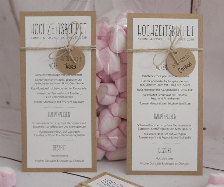 Menu card from a combination of kraft paper and white natural paper, lov …  – Oktoberfest Photo