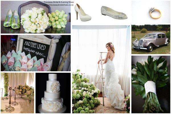 #weddingshoes #trousseaubridalshoes #bridalshoes Our beautiful mood board. Check out www.trousseaubridalshoes.co.nz - worldwide shipping is available on our shoes, please contact us