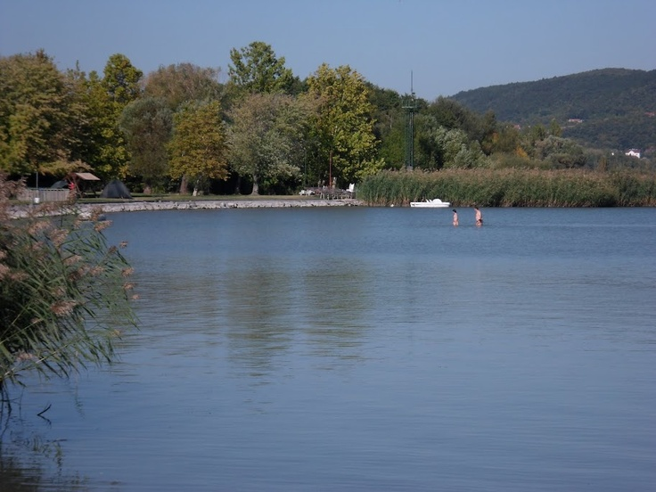 Swimming in Lake Balaton, Hungary