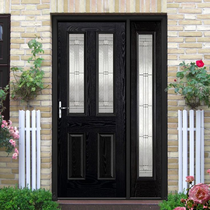Grp Black Amp White Malton Leaded Double Glazed Composite