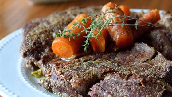 Easy Pressure Cooker Pot Roast - 70 minutes for the meat turned out tender!  Next time will put veggies towards the very end.  #InstantPot