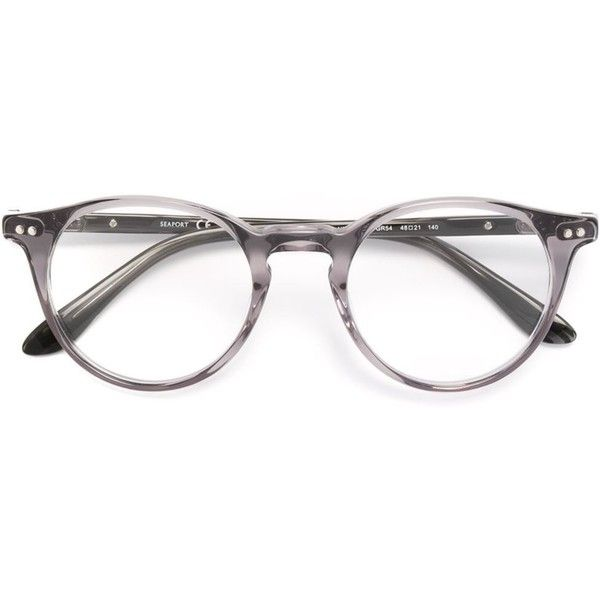 Paul & Joe round frame glasses (1.255 RON) ❤ liked on Polyvore featuring accessories, eyewear, eyeglasses, grey, acetate glasses and lens glasses