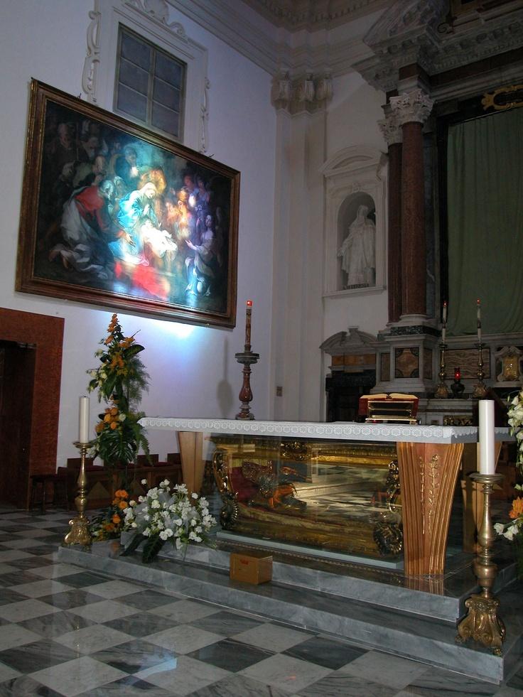#Italy #Umbria #Terni #SaintValentine #Love the #shrine of Saint Valentine under the main Altar in his Basilica