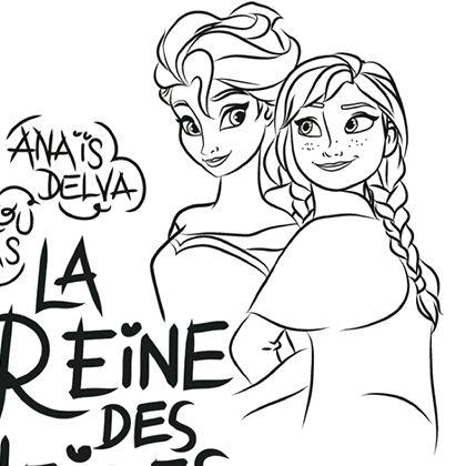 coloriage la reine des neiges we love disney 2 - Coloriage A Imprimer Disney 2