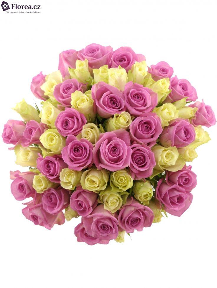 Kytice 55 AIGLE 60cm,Je co oslavovat? Potěšte oslavenkyni milým dárkem v podobě veselé kytice z růží. Dvoubarevná kytice z růžových a bílých růží je ideálním dárkem pro romanticky založené ženy.Po několika dnech se spolu s květy začne otevírat jemná zahradní vůně, která uchvátí a zlepší náladu pokaždé, když se na ni podíváte. Životnost celé kytice je při správné péči min. 12 dnů.Dodržujte prosím všechna doporučení, která obdržíte spolu s kyticí. Kytici doručíme při včasném objednání již…