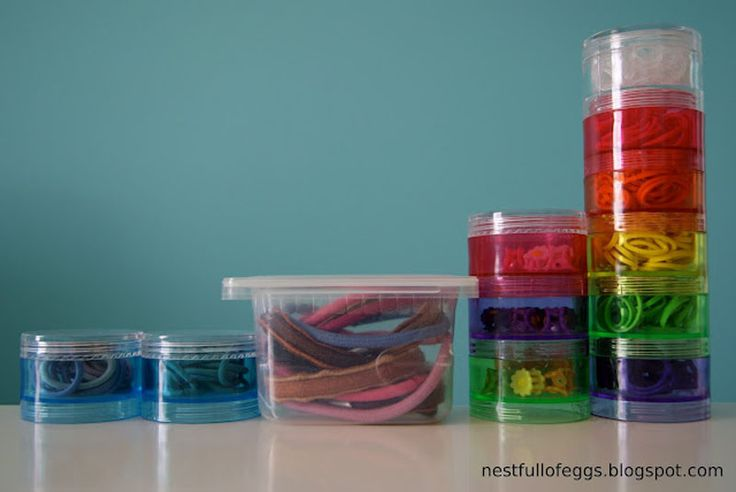 One of our readers fabulous Rubber Band Storage Ideas