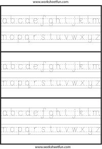 Lowercase Letter Tracing – 1 Worksheet