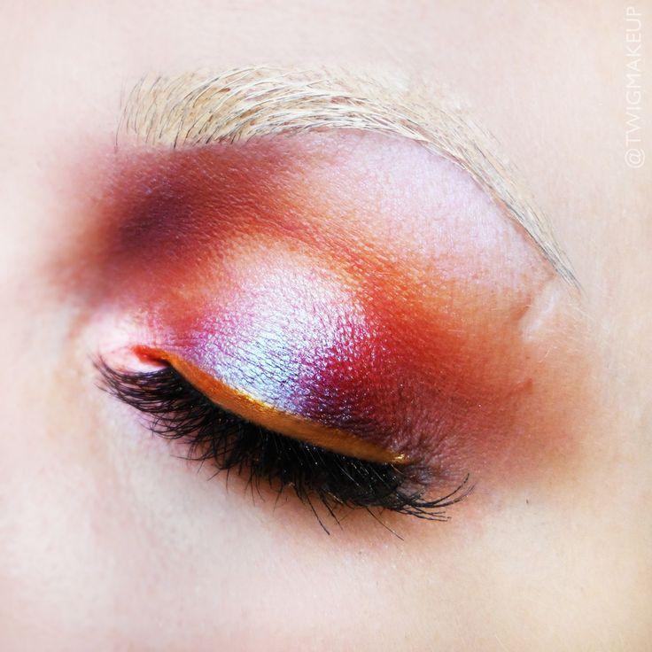 Makeup Geek Duochrome Eyeshadows in Blacklight and Phantom + Makeup Geek Eyeshadows in Chickadee, Frappe, Vanilla Bean and Wild West. Look by: TWIG Make Up