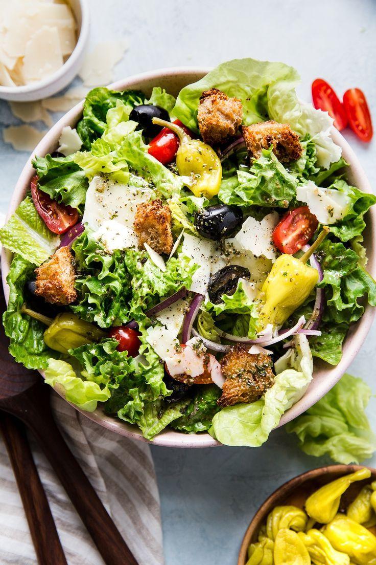 Simple Italian Salad The Modern Proper Recipe Italian Salad Recipes Italian Salad Side Salad