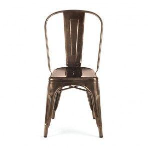 Replica Xavier Pauchard Tolix Dining Chair -  Metallic