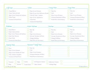 free printable, cleaning schedule, cleaning checklist, home managment ...
