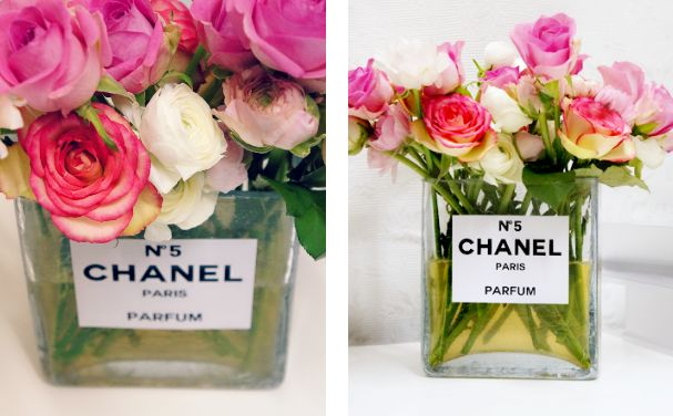 Chanel flower vase #DIY