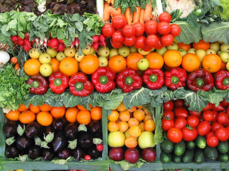 The colors of vegetables