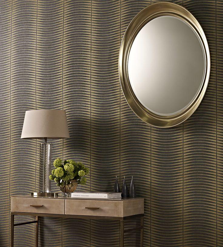Metallics   Stratos Wallpaper by Prestigious Textiles   Jane Clayton