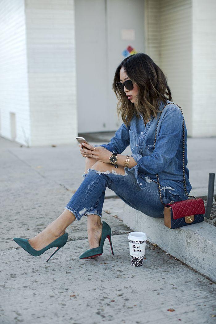124 besten jeans kombinieren outfit ideen mit jeans bilder auf pinterest. Black Bedroom Furniture Sets. Home Design Ideas