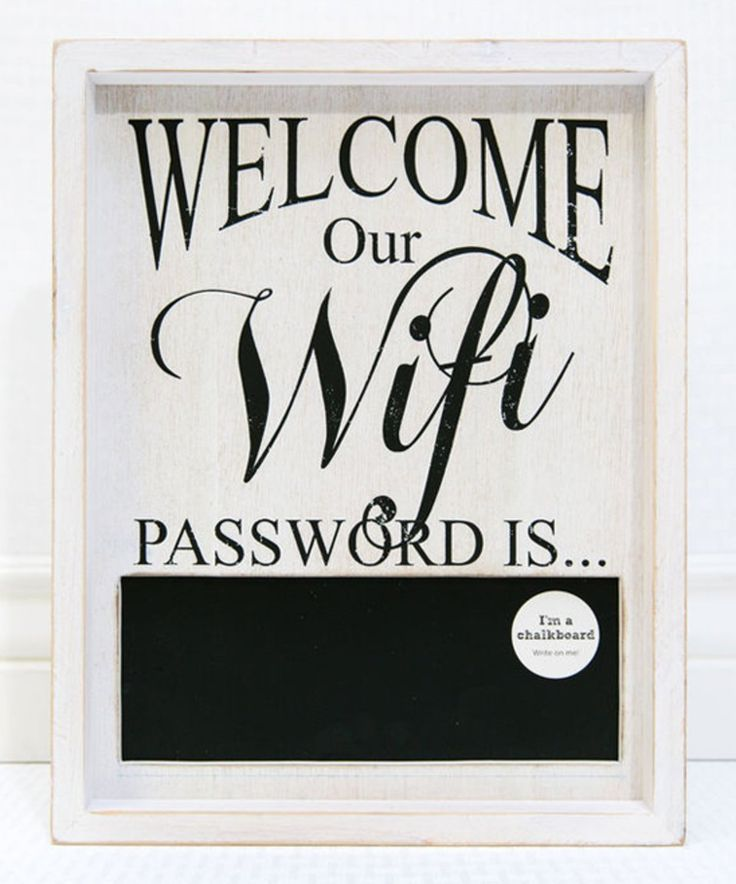 Take a look at this Adams & Co. 'Our Wifi Password Is' Wood Framed Chalkboard Sign today!