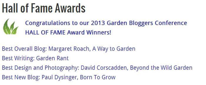 Garden Blog Hall of Fame Winner