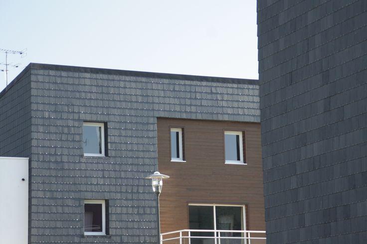 Résidence Les Berges de Limoges avec un bardage de CUPACLAD® | #CUPACLAD #CUPA #facade #ardoise #bardage #architecture #materiaux #construction