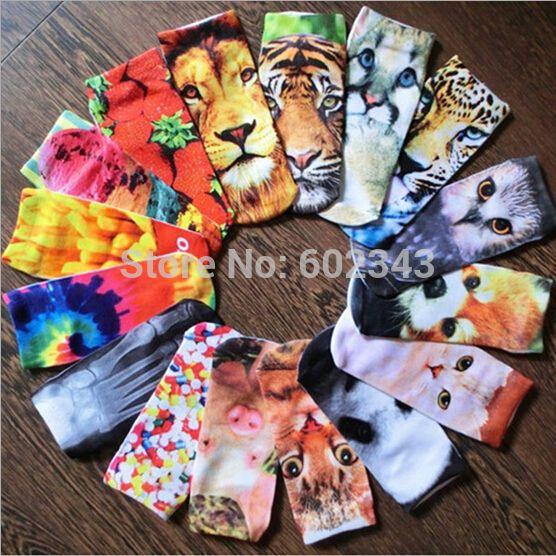 3D Printed Socks Women New Unisex Cute Low Cut Ankle Socks Multiple Colors Cotton sock Women's Casual Charactor Socks