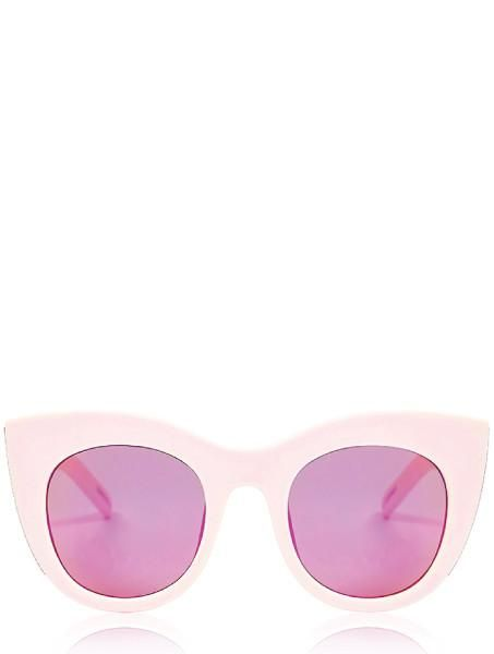 Details    Need the purrrr-fect addition for your ultimate go-to summer outfit? Our Chunky Kitten shades are the only statement you need this season. Material: Frame:Frame: 100% Plastic / Lens: 100% PlasticDimensions: 7cm Lens; 2cm Bridge; 14cm Arm  Pink frames, with refelctive lenses Complete with protective holo pouch High protection against sun-glare Lenses provide 100% UV400 Protection Not for direct viewing of the sun or for use in a solarium.   Here are some super helpful tips to ...