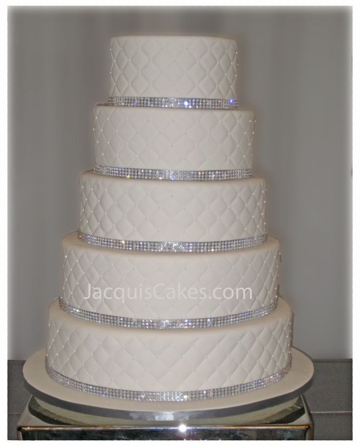Wedding Cakes With Silver Jewels