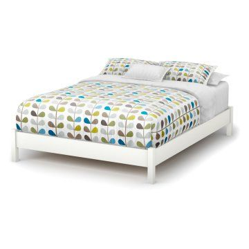 south shore soho queen platform bed with choice of headboard pure white walmart - Platform Beds For Sale