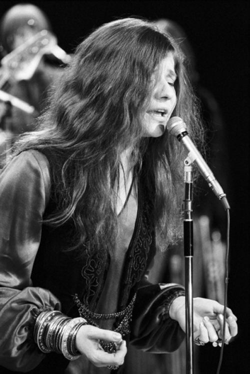 """musicrunsthroughmysoul: """"1969: Janis Joplin and the Kozmic Blues Band performing on the Ed Sullivan Show """""""