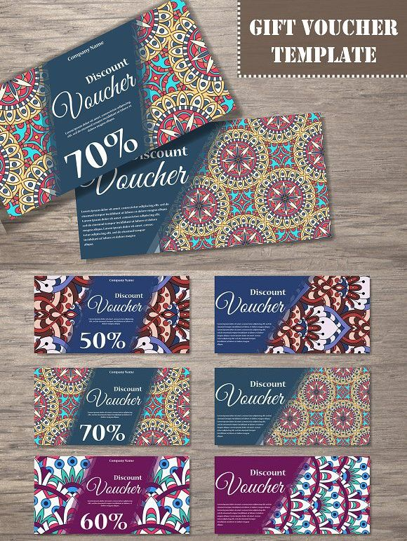 Set of gift voucher templates. Gift Voucher Design Templates. $6.00