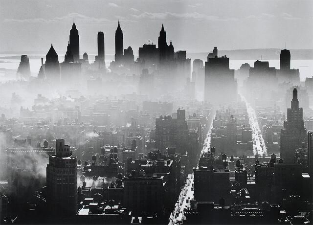 Twitter / History_Pics: Lower Manhattan, New York City 1941, by Andreas Feiniger