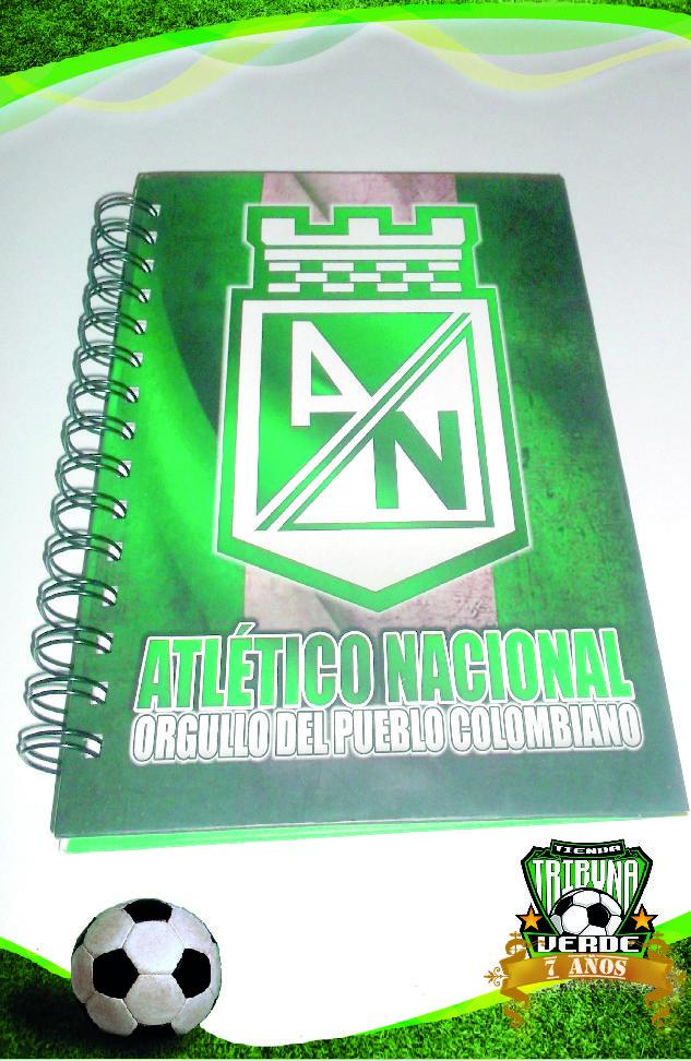 Cuaderno Argollado Atlético Nacional Orgullo Del Pueblo Colombiano Precio $ 9.500