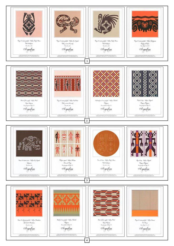 Simbologia Culturas Indigenas - http://redarte.com.ar/2013/05/alejandro-fiadone-culturas-indigenas-de-la-argentina/ #RedArte #Art