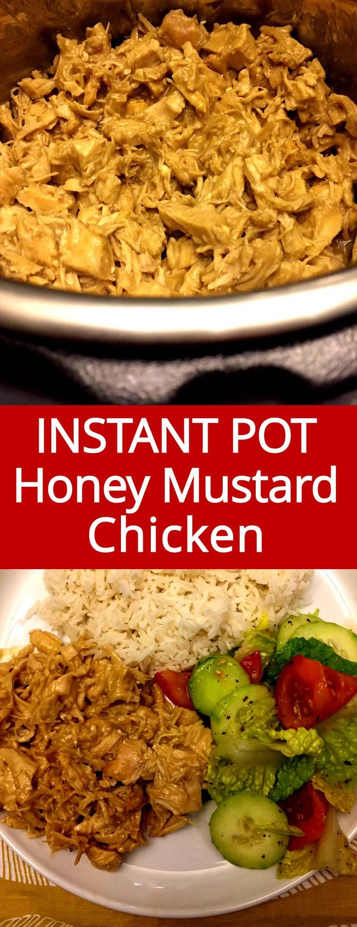 This Instant Pot honey mustard chicken is so easy to make and so yummy! Everyone loves honey mustard chicken!