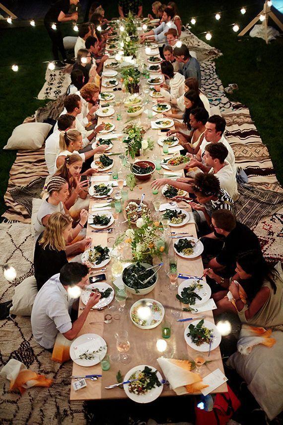 summer night dinner layout