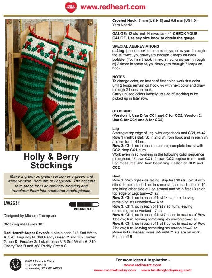 149 best Crochet Christmas #1 images on Pinterest | Navidad de ...