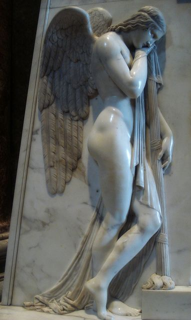 Sorrowful Angels by Antonio Canova 1819 Tomb of the Stuarts, Saint Peter's Basilica, Vatican City