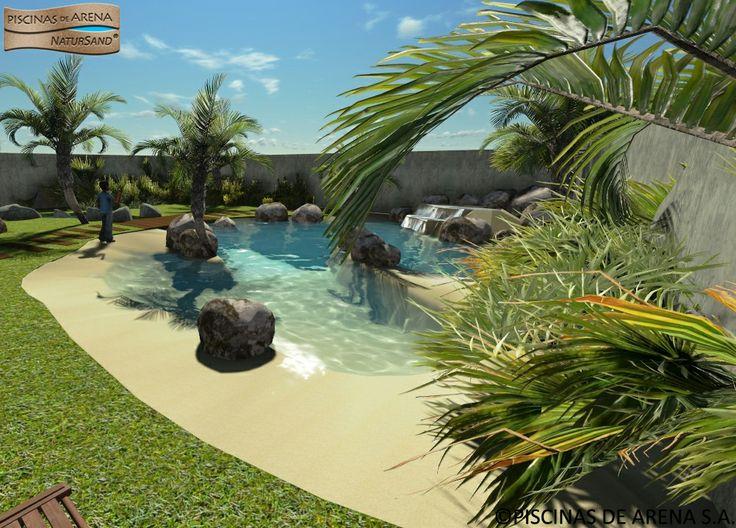Un bonito dise o en 3d de una piscinas de arena natursand - Piscinas de arena natursand ...