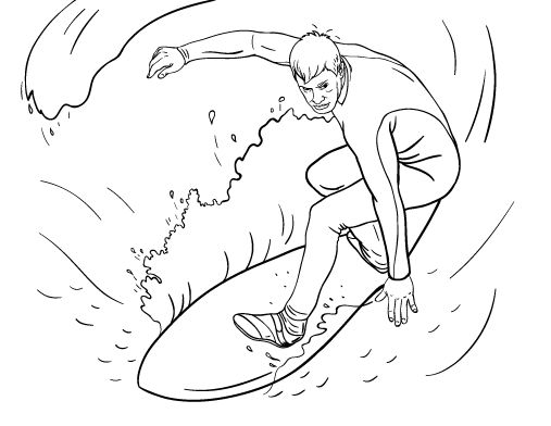 free surfs up coloring pages - photo#30
