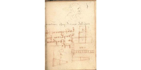 "Study reveals Leonardo da Vinci's ""irrelevant"" scribbles mark the spot where he first recorded the laws of friction 