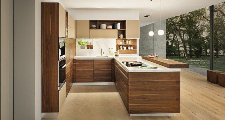 Timber Kitchen With Open Shelves Neutral Palette Kitchen Trends 2015 Kitchens Pinterest