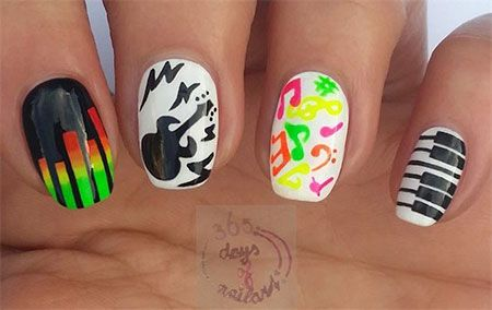 Best 25 Music Nail Art Ideas On Pinterest Piano Nails