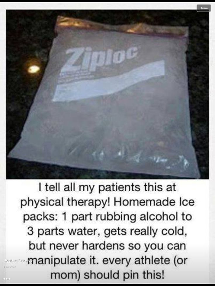 Make your own cold pack
