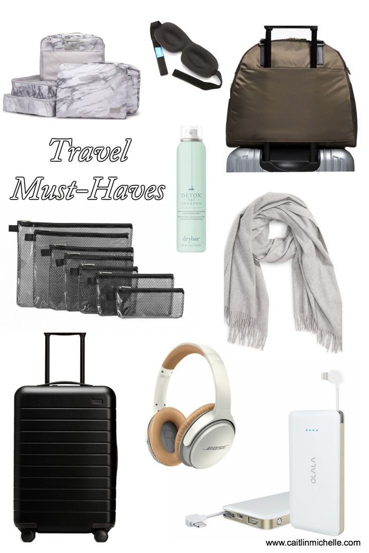 Travel Must-Haves, Everything You Need to Make Travel Organized, Comfortable and Enjoyable {www.caitlinmichelle.com}