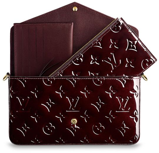 Louis Vuitton Pochette Felicie Bag in Amarante color | Measuring 21 x 11 x 2 (L x H x W) cm, priced at AUD 1,290 | USD $1,110.00