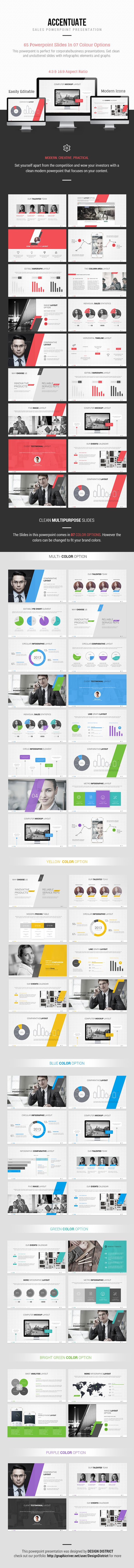 Accentuate Modern Powerpoint on Behance