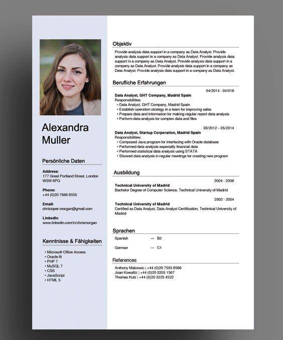 Switzerland Swiss German Cv Resume Template In 2020 Cv Template Word Cv Template Cv Resume Template