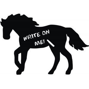 Chalkboard Horse Wall Decals. Cute for keeping up with meds, wormer schedule ect in the barn